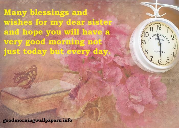 Good Morning Sister I Love You