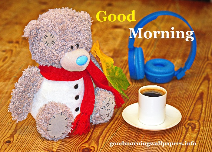 Coffee Teddy Bear Good Mornings