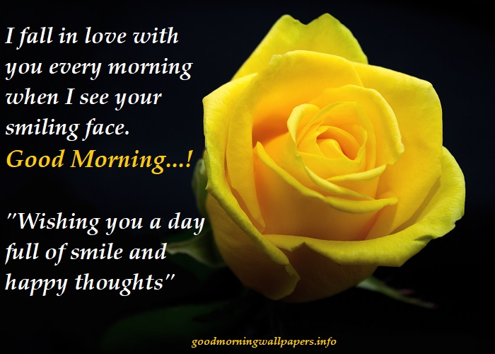 Good Morning Yellow Roses With Quotes