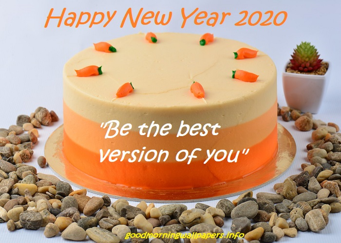 New Year Wishes on Cake