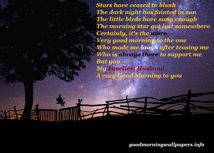 Good Morning Poem for Lover