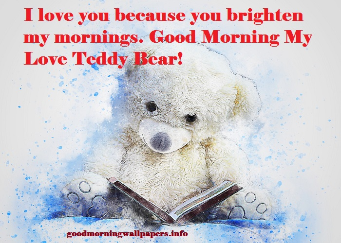 Good Morning Teddy Love Photo