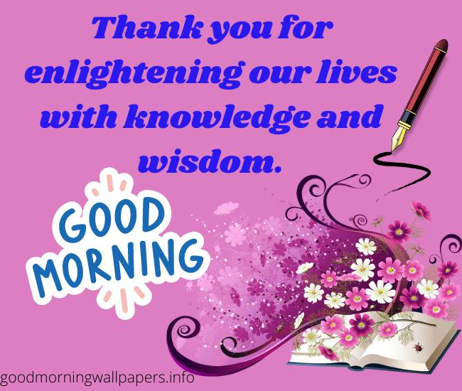 Good Morning Images for Teachers